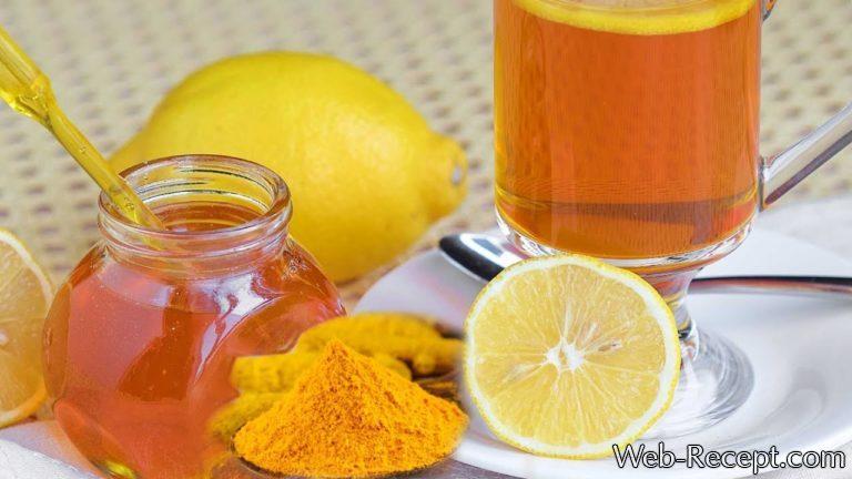 Лимонный напиток с куркумой фото