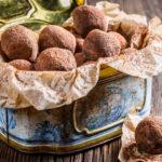 Орехово-нутовые трюфели с апельсином без сахара