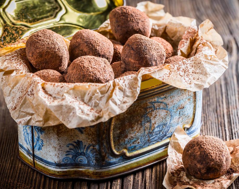 Орехово-нутовые трюфели с апельсином без сахара фото