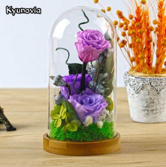 Роза в стекле Kyunovia, фото цветка в стеклянной колбе