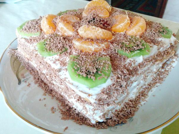 Весенний торт без выпечки фото
