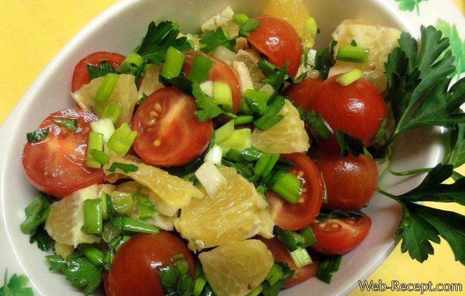Фитнес-салат с апельсинами фото