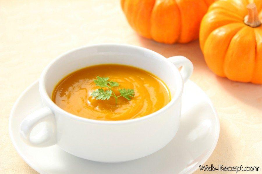 Суп-пюре из тыквы для детей фото