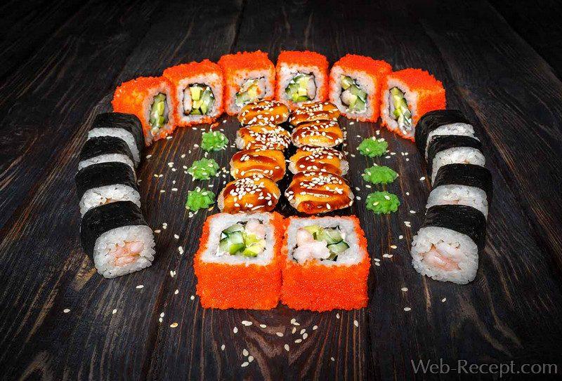 Суши с жареным лососем в соусе терияки рецепт