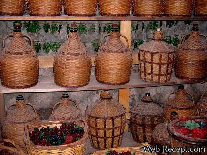 Хранение продуктов в плетеных корзинах