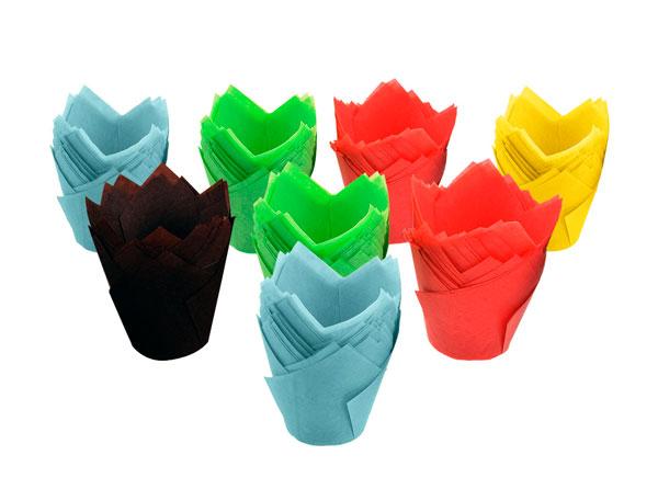 Формы в виде тюльпанов для выпечки кексов и маффинов