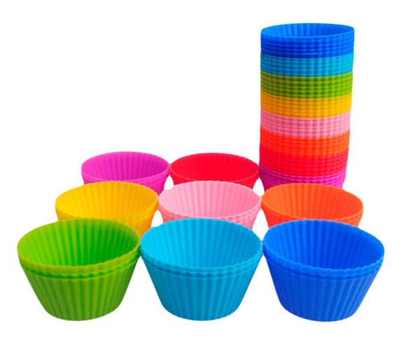 Силиконовые формы для выпечки кексов и маффинов